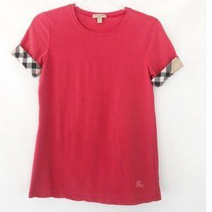 Burberry Brit Check Cuff Stretch T-shirt